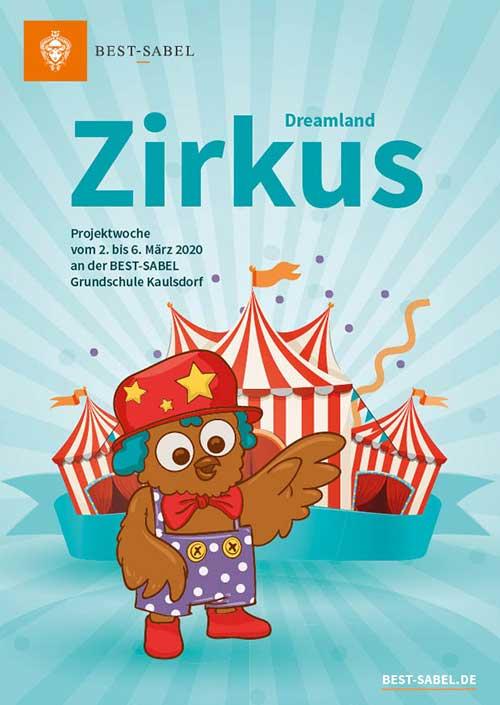 Zirkus Plakat Gustav